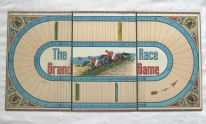 zz The Grand Race Game - antique horse racing board game (board only) (SOLD)